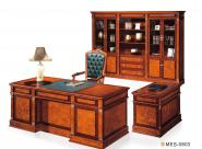 MESCO EXECUTIVE OFFICE TABLE WITH STORAGE CABINET