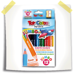 toycolor Box 12 wooden jumbo pencils