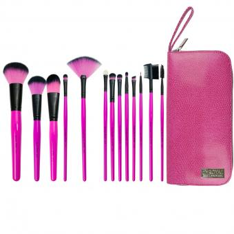 royal&langnickel PINK ESSENTIALS SYNTHETIC 13PC TRAVEL KIT